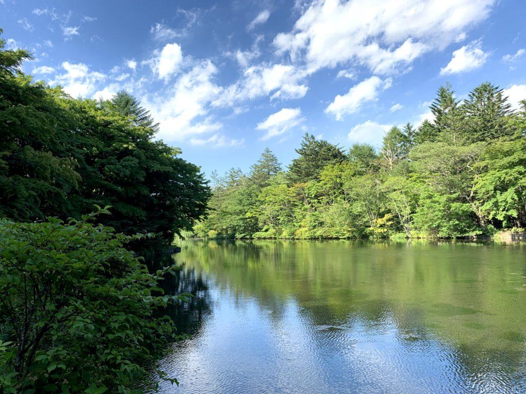 別荘地にひっそり佇む「雲場池」