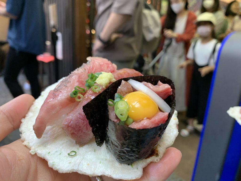 飛騨牛食べ歩き①飛騨にぎり寿司2