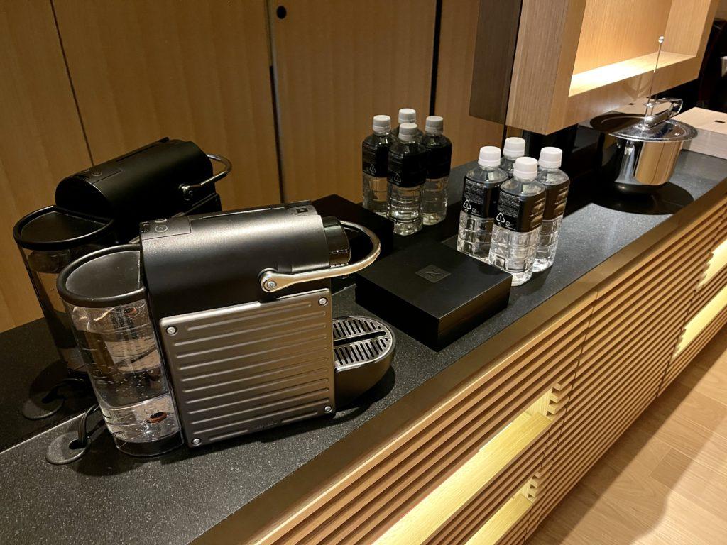 ザ・リッツ・カールトン京都の客室のコーヒーメーカー