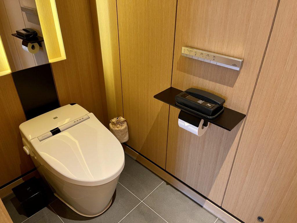 ザ・リッツ・カールトン京都の客室のトイレ