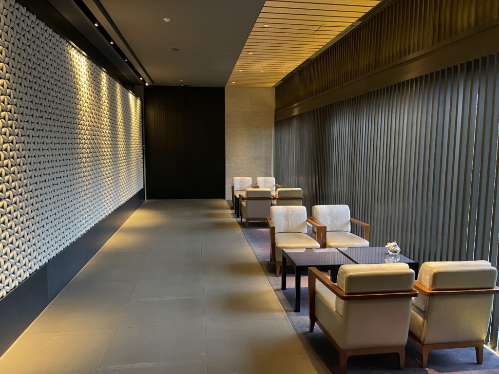 ザ・リッツ・カールトン京都のロビー待合室