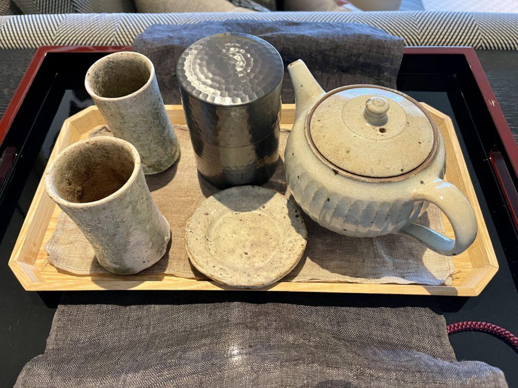 ザ・リッツ・カールトン京都の客室のお茶入れ