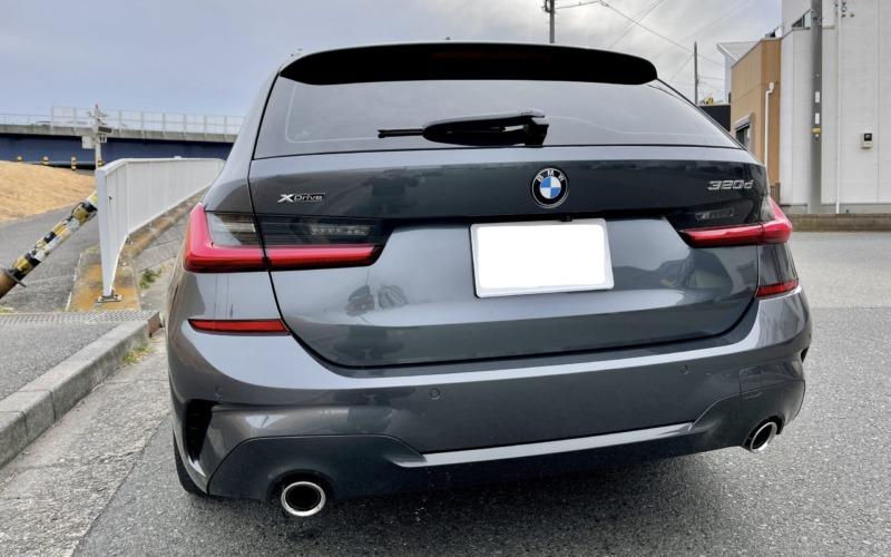 BMW320dツーリングの紹介-リア