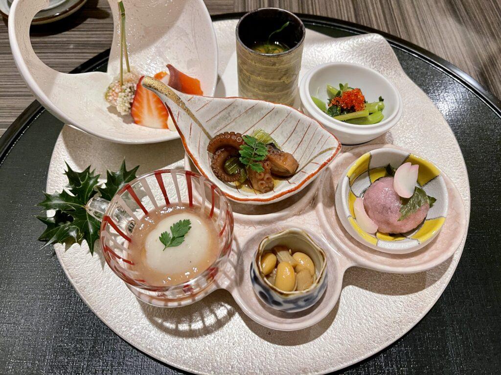 嵯峨沢館の夕食 前菜