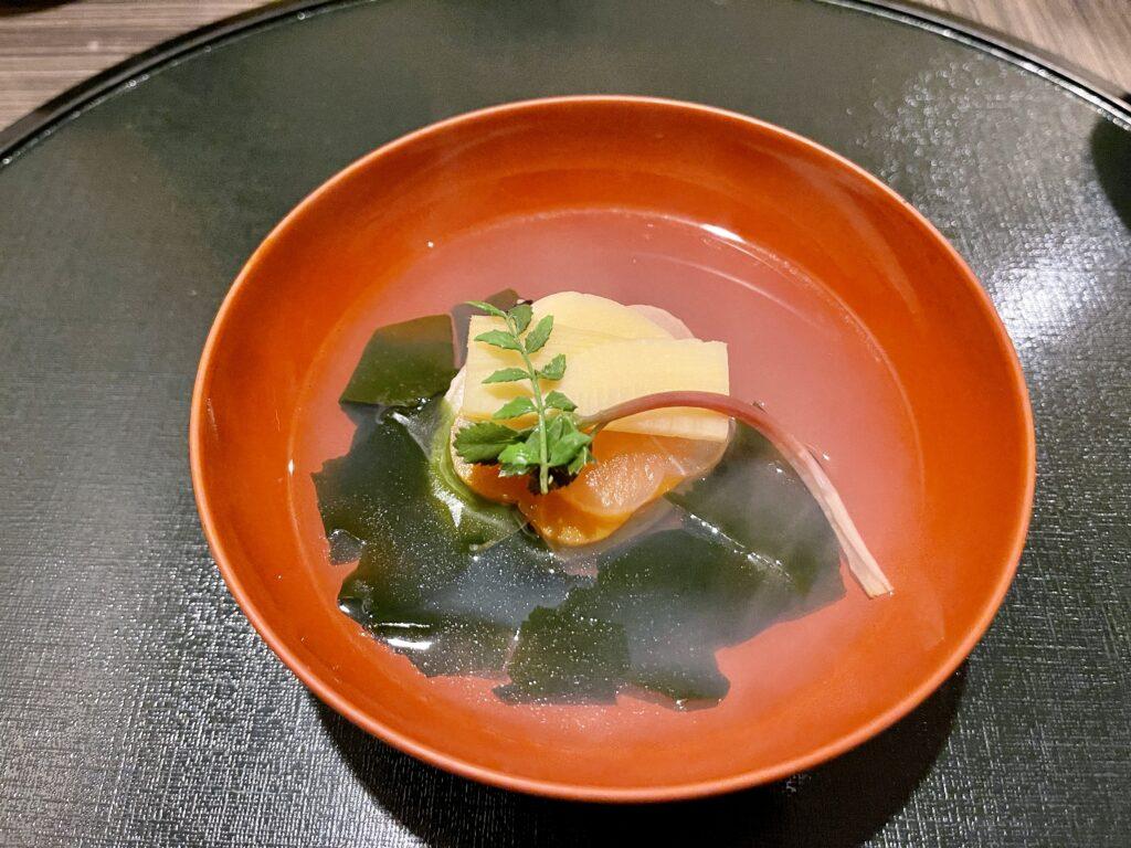嵯峨沢館の夕食 お吸い物