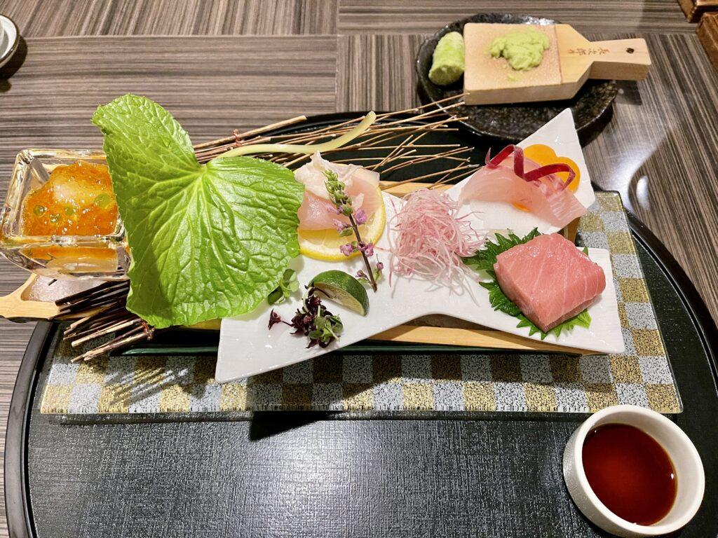 嵯峨沢館の夕食 お造り