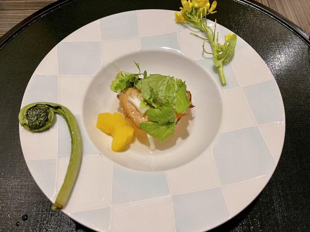 嵯峨沢館の夕食 焼物