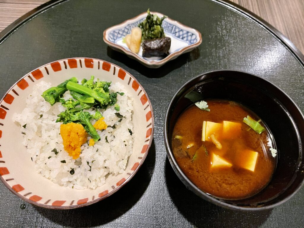 嵯峨沢館の夕食 食事