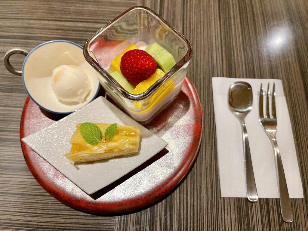 嵯峨沢館の夕食 デザート