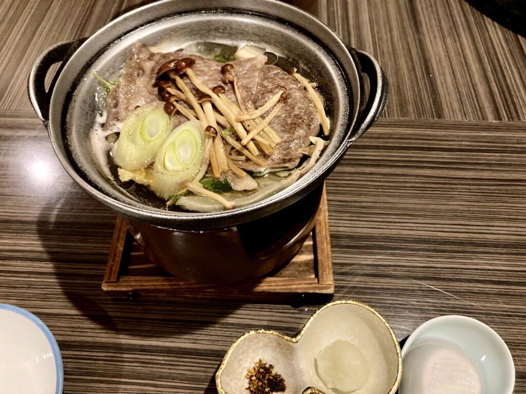 嵯峨沢館の夕食 お鍋