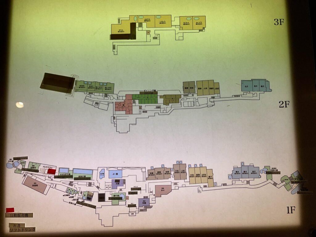 嵯峨沢館の館内案内図
