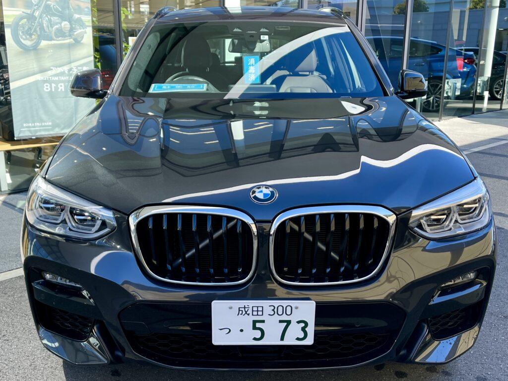 BMW X3 20dの外装フロント周り