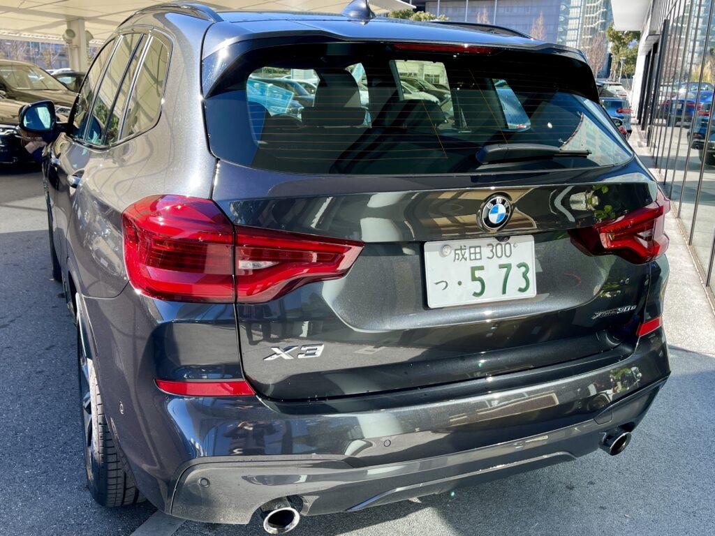BMW X3のリアビュー