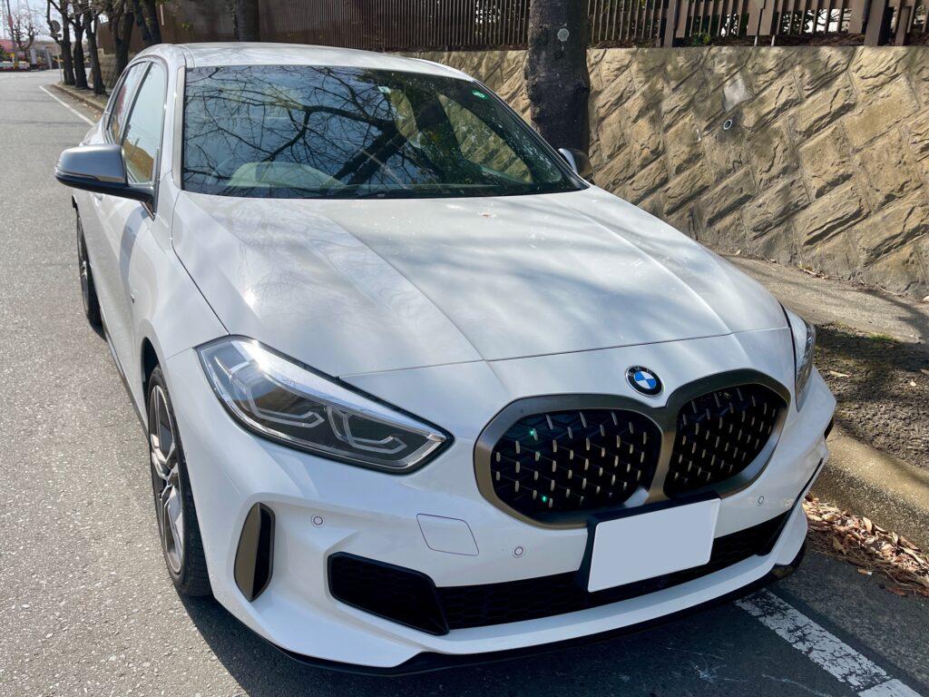 新型BMW M135i xDriveの外装 フロント周り