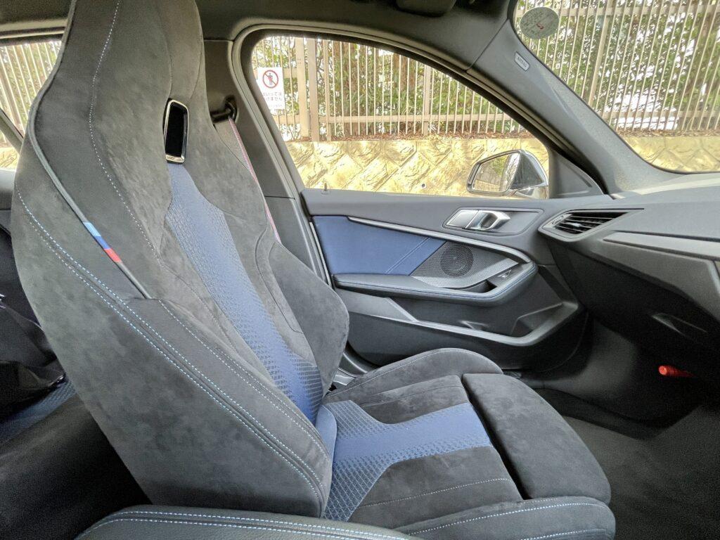 新型BMW M135i xDriveの内装 シート